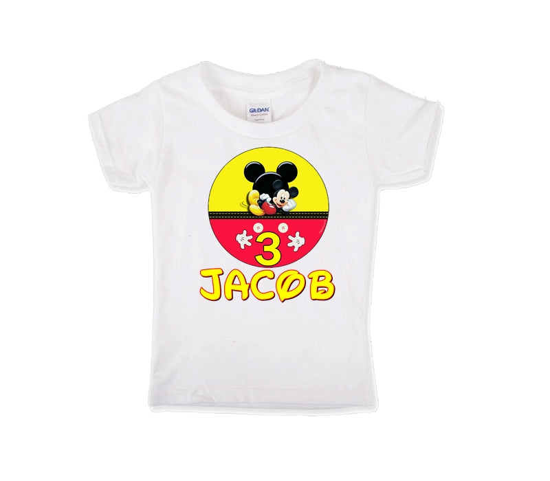 Mickey Mouse Personalized Birthday Shirt Boys