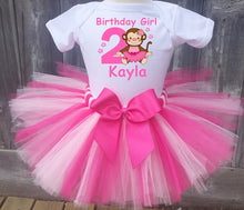 Load image into Gallery viewer, Monkey Customized Birthday Tutu Outfit-Dress