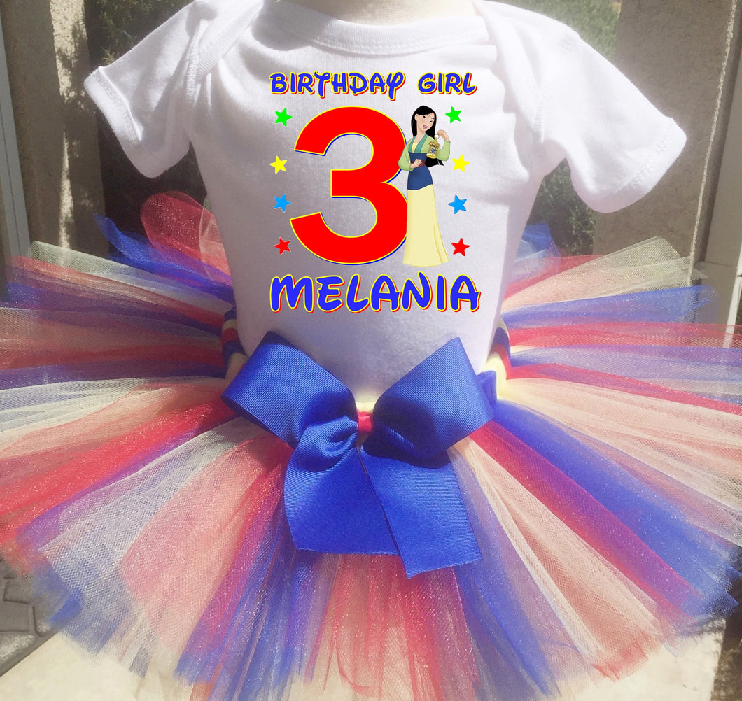 Mulan Customized Birthday Tutu Outfit-Disney Princess