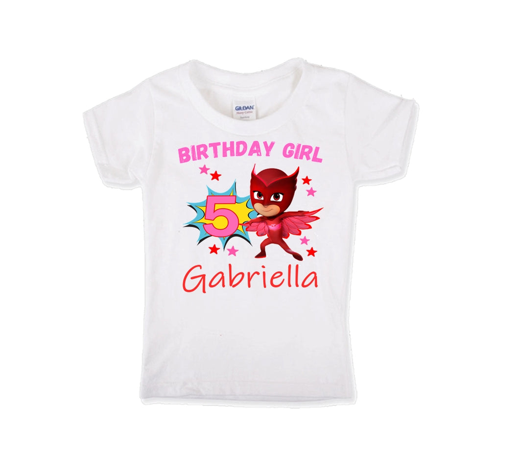 PJ Masks Owlette Birthday Shirt Girls