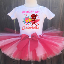 Load image into Gallery viewer, PJ Masks Owlette Birthday Tutu Outfit