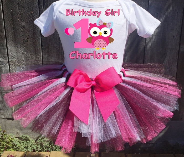 Owl Customized Birthday Tutu Outfit-Dress