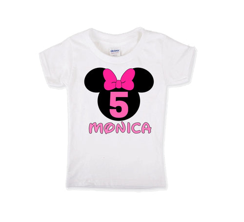 Minnie Mouse Birthday Shirt Girls