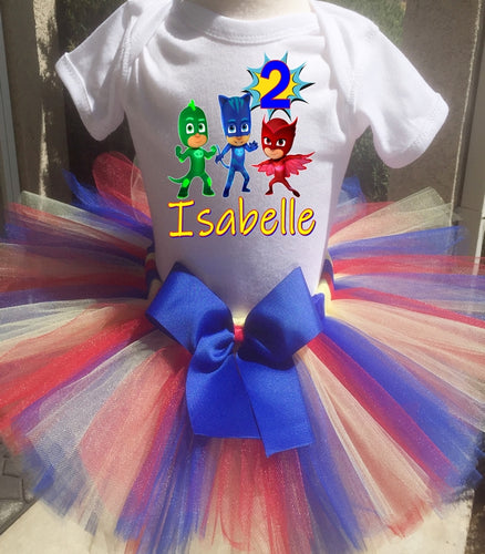 Pj Masks Customized Birthday Tutu Outfit