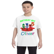 Load image into Gallery viewer, PJ Masks Personalized Birthday Shirt Boys