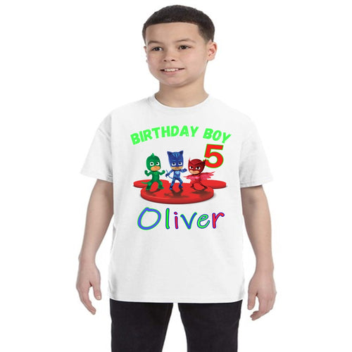 PJ Masks Personalized Birthday Shirt Boys