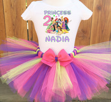 Load image into Gallery viewer, Disney Princess Customized Birthday Tutu Outfit