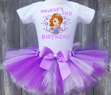 Load image into Gallery viewer, Princess Sofia Customized Birthday Tutu Outfit