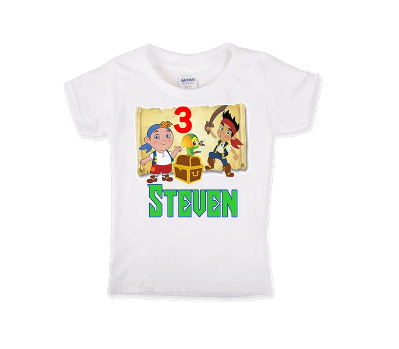 Jake and the Neverland Pirates Personalized Birthday Shirt Boys