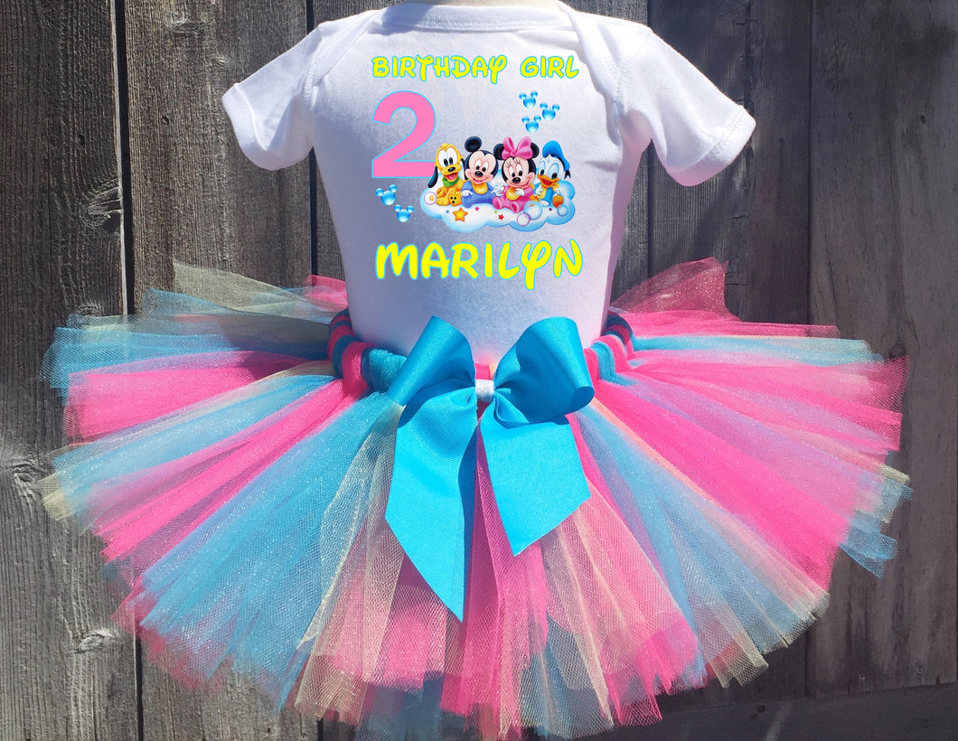 Baby Minnie Mouse Mickey Mouse Birthday Tutu Outfit