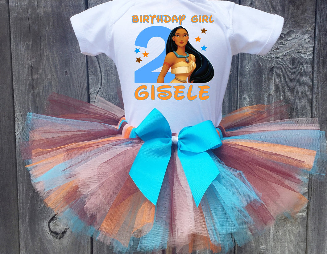 Pocahontas Birthday Tutu Outfit-Disney Princess