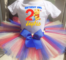 Load image into Gallery viewer, Winnie The Pooh Birthday Tutu Outfit