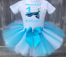 Load image into Gallery viewer, Frozen Queen Elsa Birthday Tutu Outfit-Disney Princess