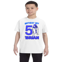 Load image into Gallery viewer, Star Wars R2D2 Personalized Birthday Shirt Boys