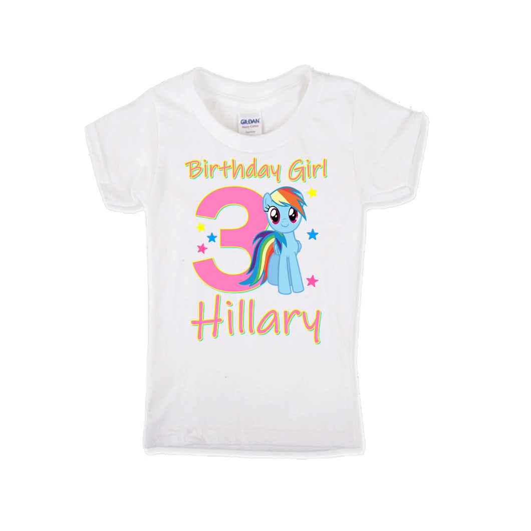 My Little Pony Rainbow Dash Birthday Shirt Girls
