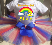 Load image into Gallery viewer, Rainbow Customized Birthday Tutu Outfit