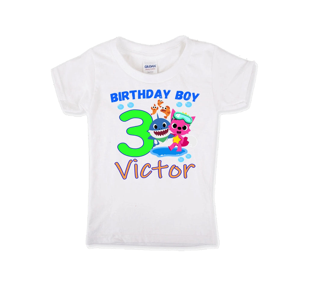Baby Shark Birthday Shirt Boys