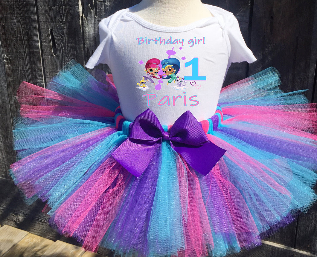 Shimmer And Shine Customized Birthday Tutu Outfit