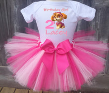Load image into Gallery viewer, Paw Patrol Skye Customized Birthday Tutu Outfit