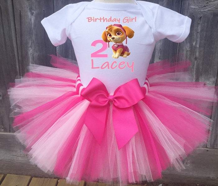 Paw Patrol Skye Customized Birthday Tutu Outfit