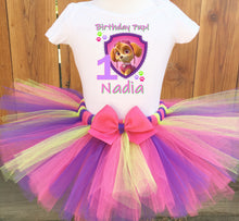 Load image into Gallery viewer, Paw Patrol Skye Shield Customized Birthday Tutu Outfit