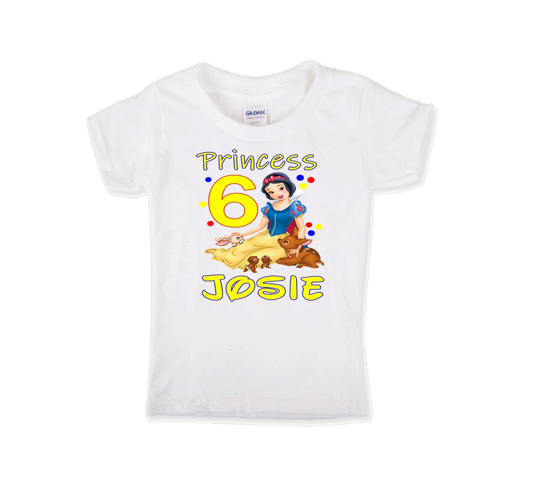 Snow White Personalized Birthday Shirt Girls-Disney Princess