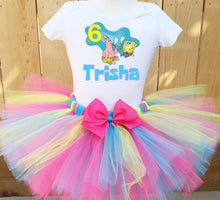 Load image into Gallery viewer, Spongebob Squarepants And Patrick Customized Birthday Tutu Outfit-Dress
