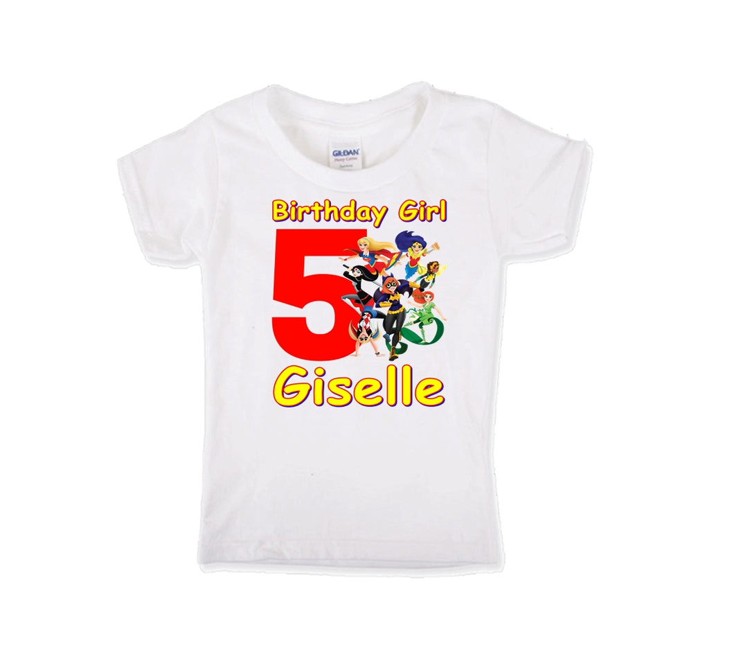 Superhero Girls Birthday Shirt Girls