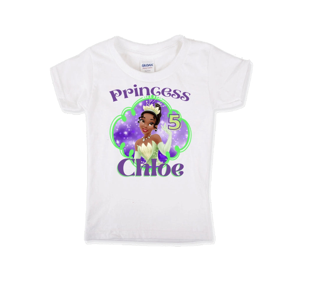 Princess Tiana Birthday Shirt Girls-Disney Princess
