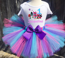 Load image into Gallery viewer, Trolls World Tour Birthday Tutu Outfit