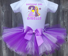 Load image into Gallery viewer, Rapunzel Tangled Customized Birthday Tutu Outfit-Disney Princess