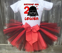 Load image into Gallery viewer, Darth Vader Birthday Tutu Outfit- Star Wars