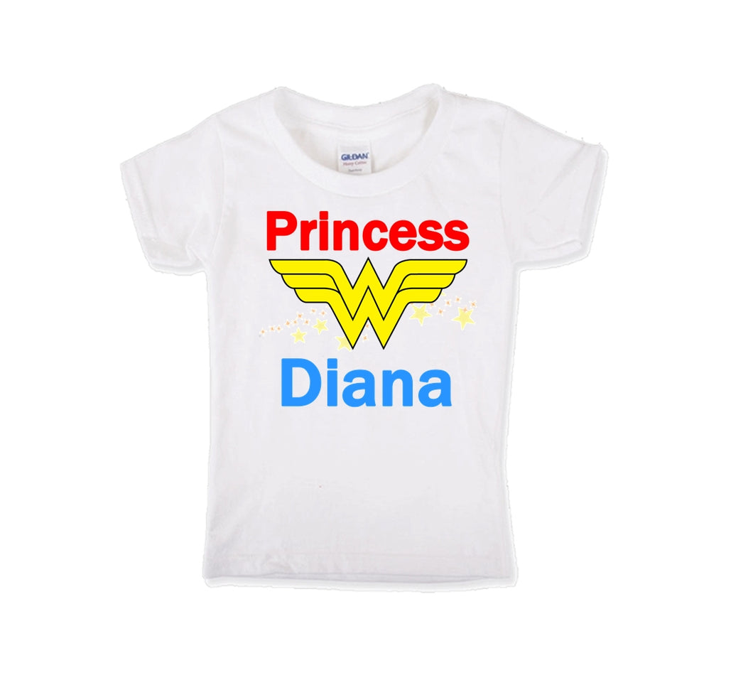 Wonder Woman Personalized Birthday Shirt Girls