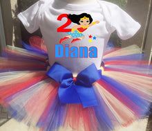 Load image into Gallery viewer, Wonder Woman Birthday Tutu Outfit-Superhero