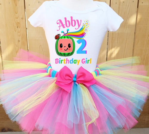 Coco Melon Birthday Tutu Outfit for Toddler Girl