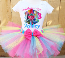 Load image into Gallery viewer, Trolls Birthday Tutu Outfit Set