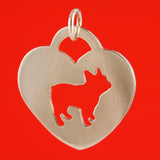 French Bulldog Heart Charm - FBRN Howliday Fundraiser