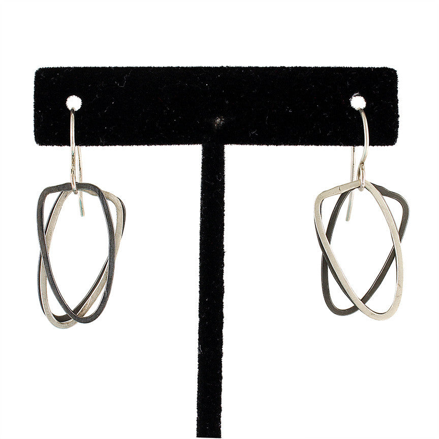 Two-Toned Forged Arch Shape Dangles