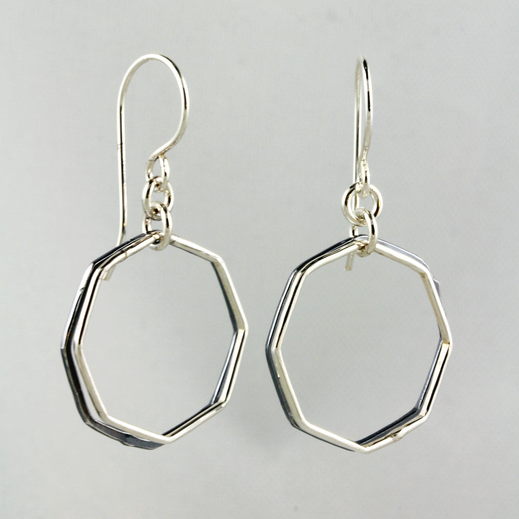 Two-Toned Octagon Dangles