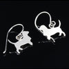 Basset Hound Dangle Earrings