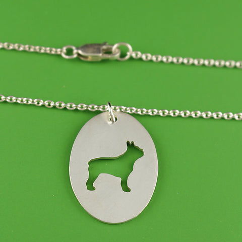 Custom Sterling Oval Pet Portrait Pendant