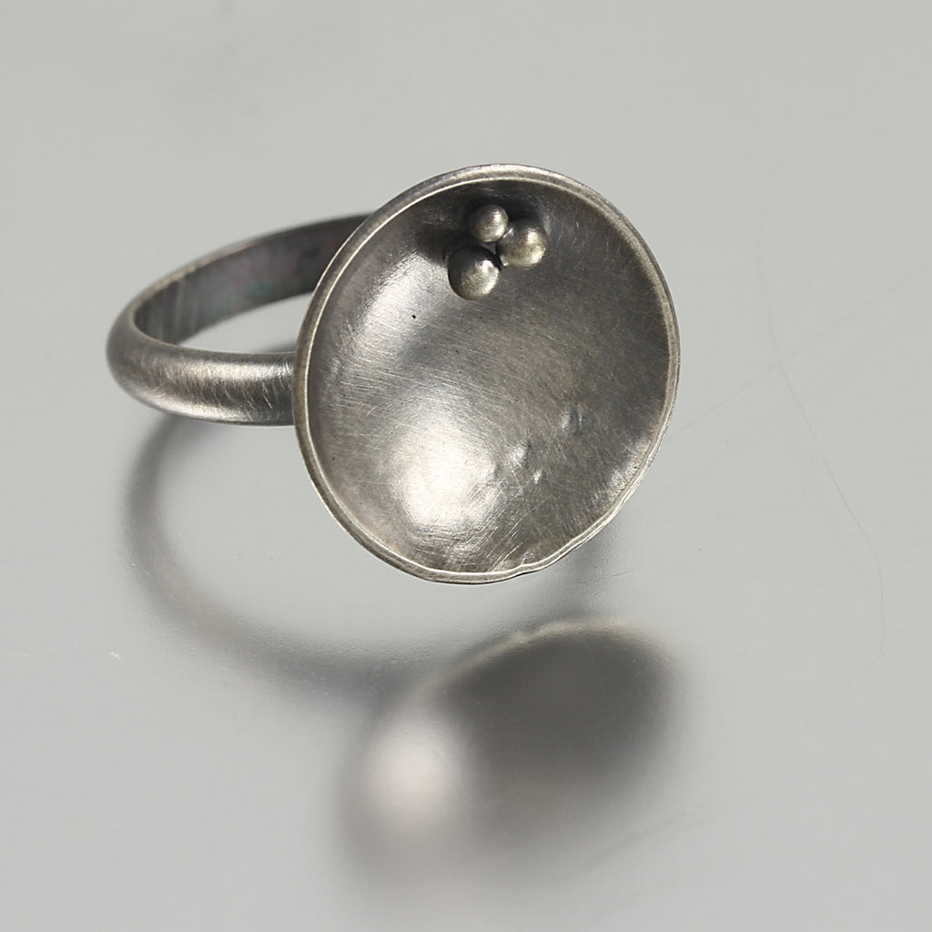 Dome Ring with Beads- Size 8.25