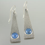 Lapis Triangle Dangles