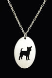 Chihuahua Oval Silhouette Pendant