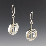 Rotating Circle Drop Earrings