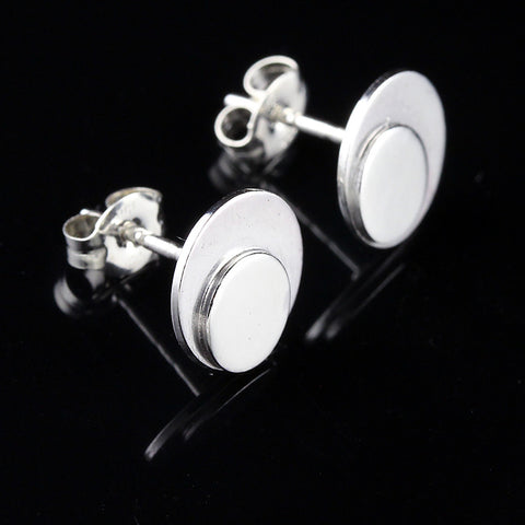 Circle Triangle Mini Ear Studs