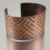 Copper Overlapping Arrows Cuff
