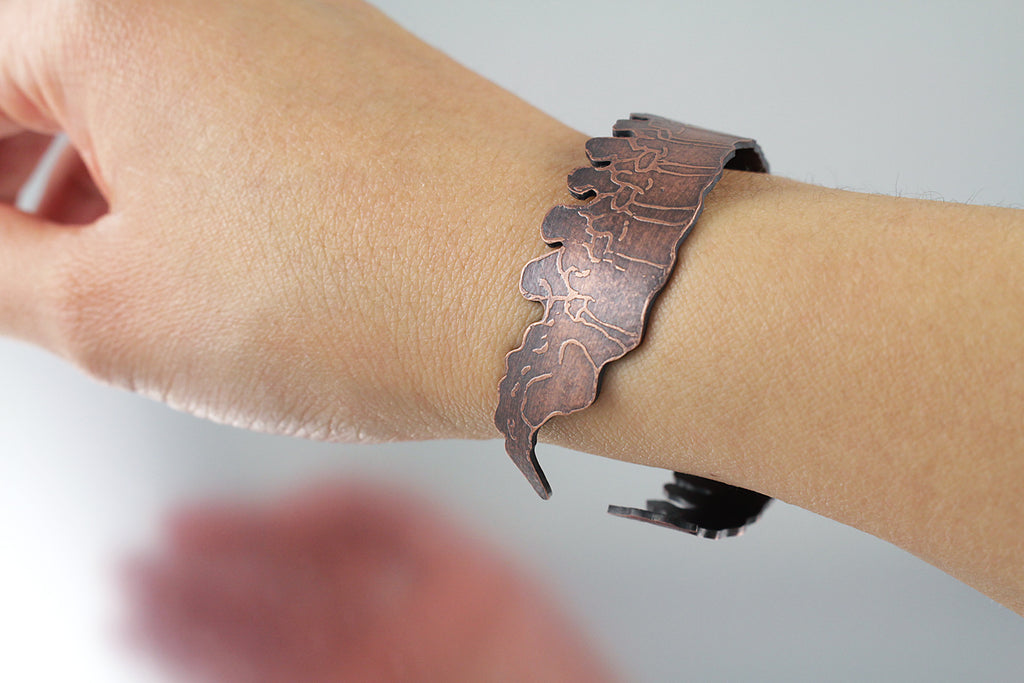 Copper Spine Cuff