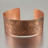 Copper Skull Pattern Cuff