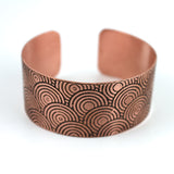 Copper Circles Cuff